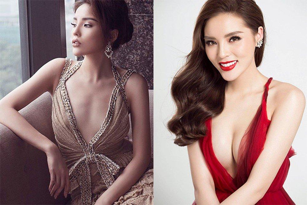 """Hoa hậu Kỳ Duyên là một trong số ít những mỹ nhân Việt thẳng thắn thừa nhận mình đã """"dao kéo"""" vòng 1. Sau khi nâng ngực, Kỳ Duyên trở nên cực kỳ cuốn hút và gợi cảm"""