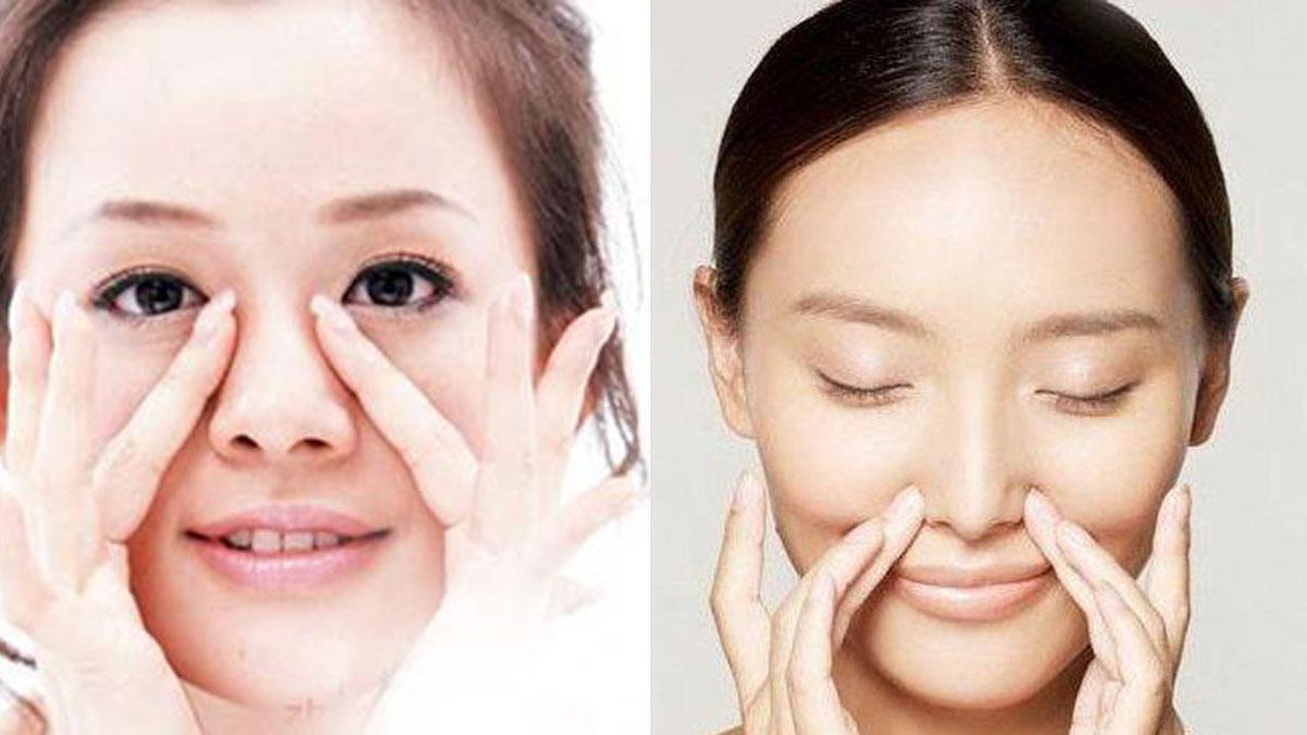 Kiên trì massage giúp làm sống mũi cao hơn