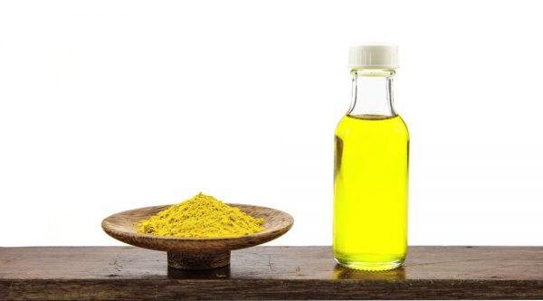 Chữa rạn da sau sinh bằng nghệ dạng tinh bột và dầu oliu