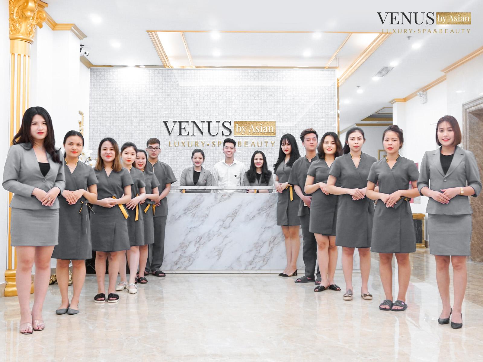 Độ ngũ nhân viên chuyên nghiệp tại Venus