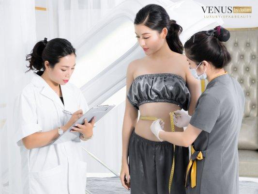 Á hậu Huyền My giảm mỡ bụng tạiVenus By Asian
