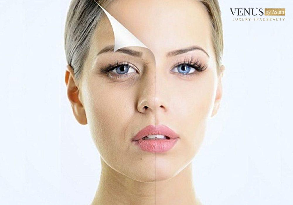 Da mặt chảy xệ là những dấu hiệu mà tuổi lão hóa mang lại