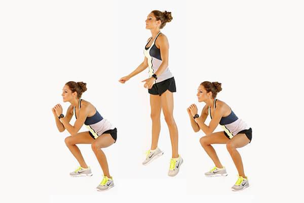 Cách làm mông to hơn với bài tập nhảy squat