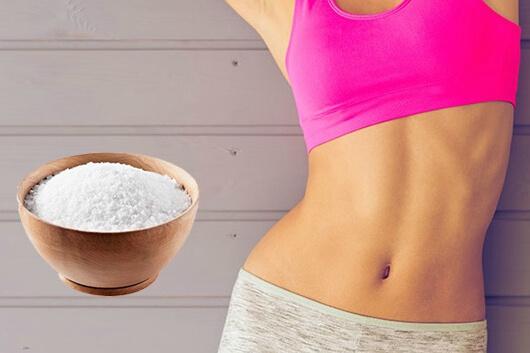 Dùng muối hột rang để giảm mỡ bụng hiệu quả