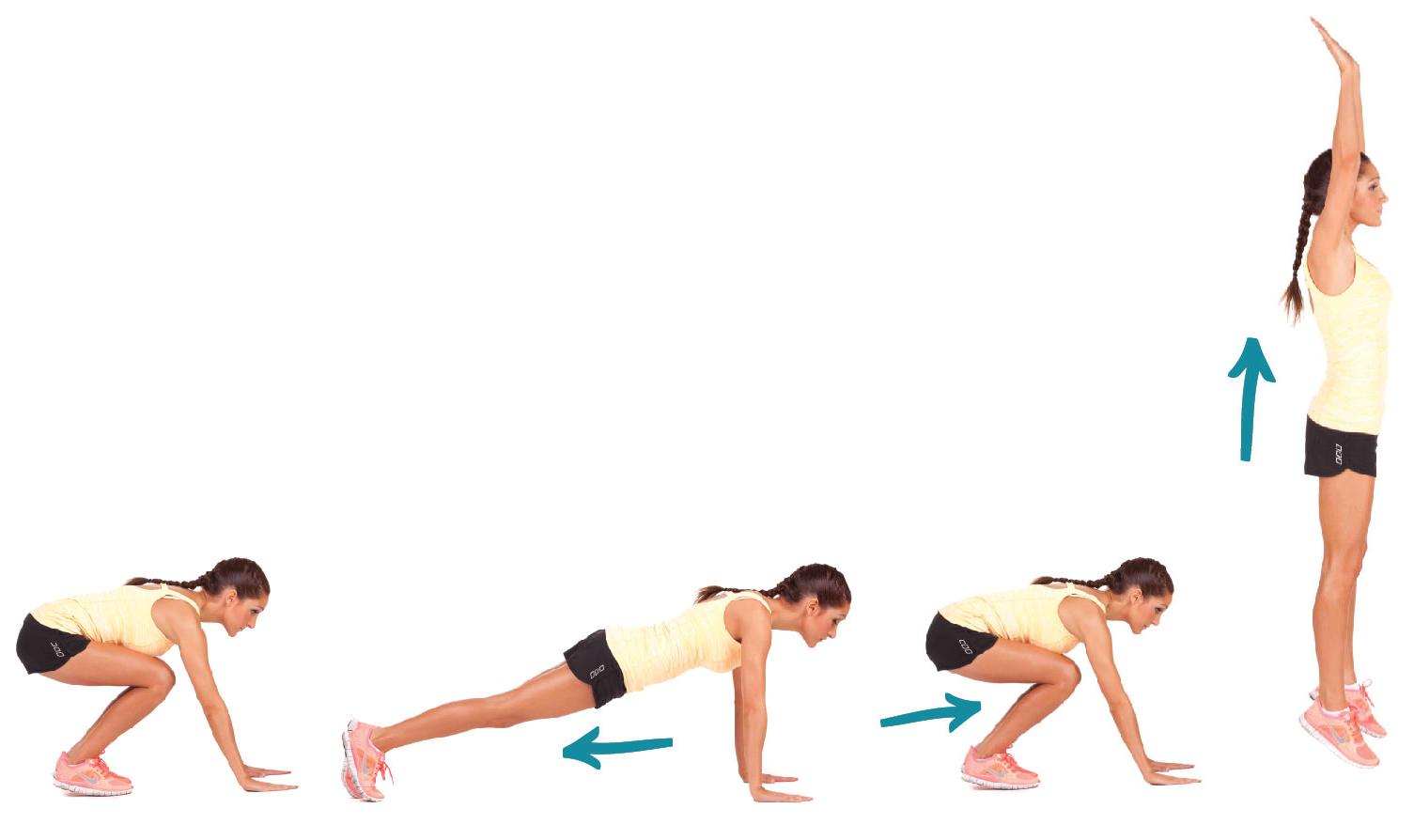 Chống đẩy bật nhảy giúp giảm béo bụng