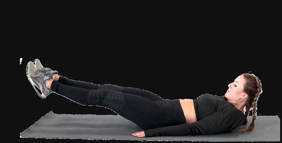 Thực hiện tư thế đạp rung giảm mỡ bụng