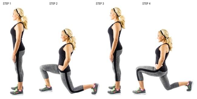 Thực hiện bài tập lunge