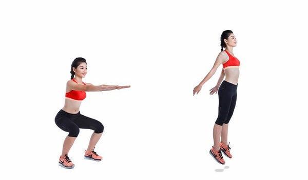 Động tác khắc phục mông lép hiệu quả - Squat