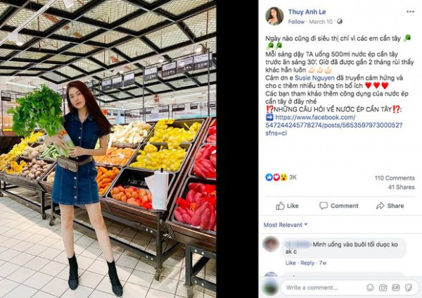 Nguồn Facebook: Thuy Anh Le