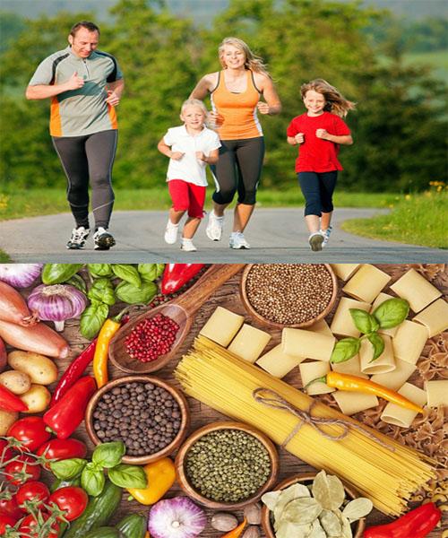 Chế độ ăn khoa học và rèn luyện thể thao giúp giảm béo, cơ thể khỏe mạnh