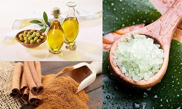 Kết hợp dầu oliu, muối và quế làm giảm mỡ bụng