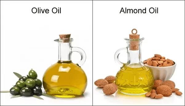 Trị rạn da bằng dầu oliu và dầu hạnh nhân đắng