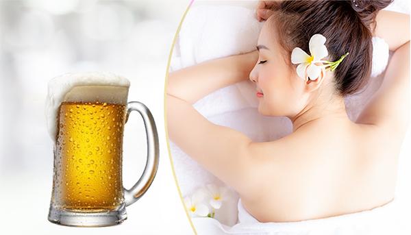 Cách trắng da toàn thân bằng bia tươi
