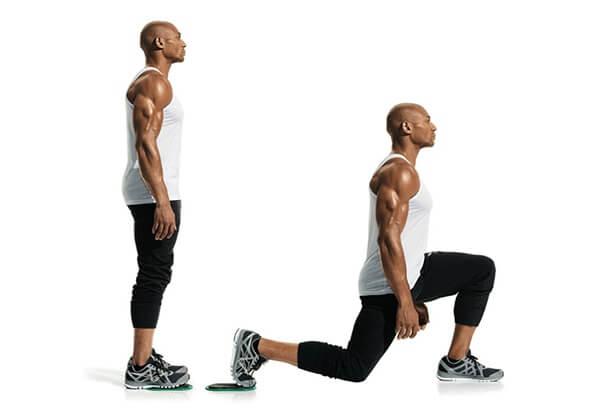 Lunge là bài tập nâng cơ mông nam vô cùng hiệu quả