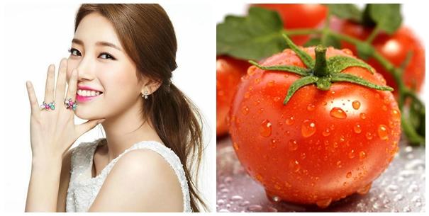 Cà chua giúp chữa sạm da mặt