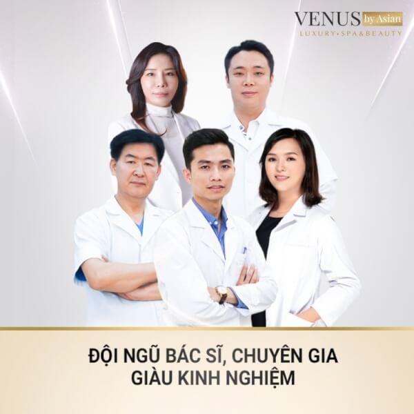 Đội ngũ chuyên gia giàu kinh nghiệm tại Venus By Asian