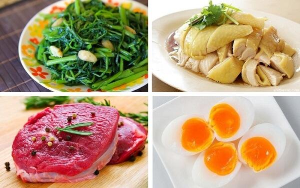Tránh sử dụng các thực phẩm như thịt bò, gà, trứng sau phun môi