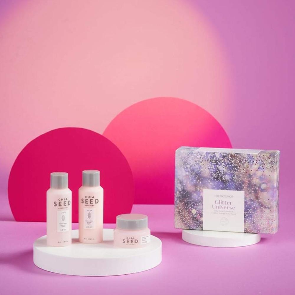 The Face Shop Chia Seed Hydrating Trio Kit cung cấp độ ẩm cho làn da khô, sần sùi