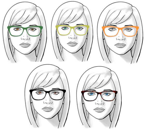 Đeo kính là giải pháp khắc phục gò má cao tạm thời