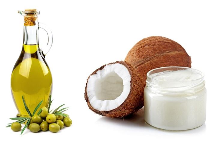 Dầu dừa, dầu ô liu giúp tăng cường độ ẩm cho da