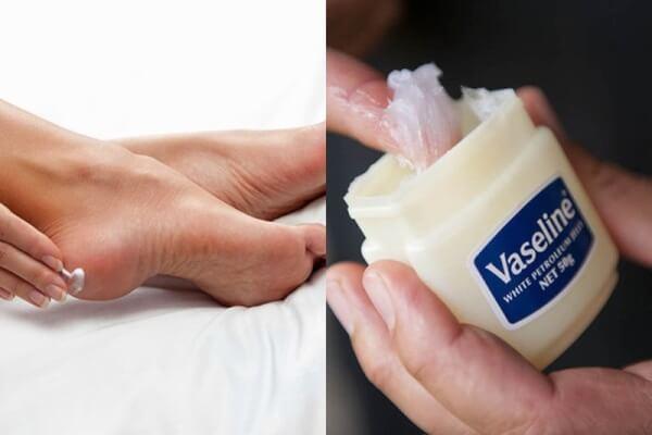 Vaseline có công dụng dưỡng da chân khô rất hiệu quả