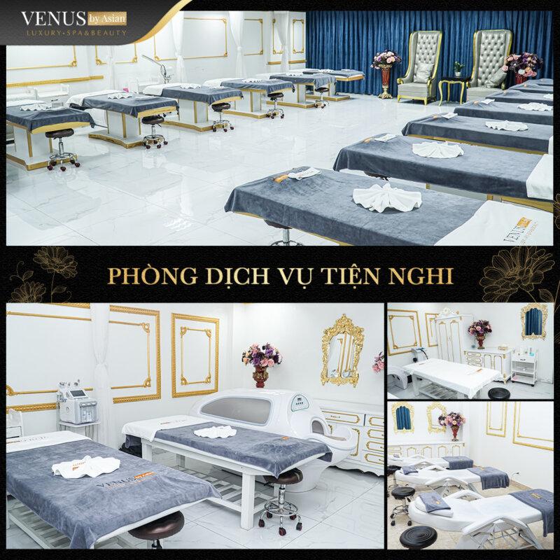 Venus by Asian có phòng trị liệu hiện đại và máy móc kỹ thuật tiên tiến bậc nhất hiện nay