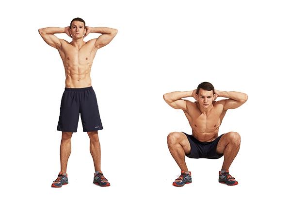 Squat Jump là vừa tập squat kèm động tác nhảy bật cao