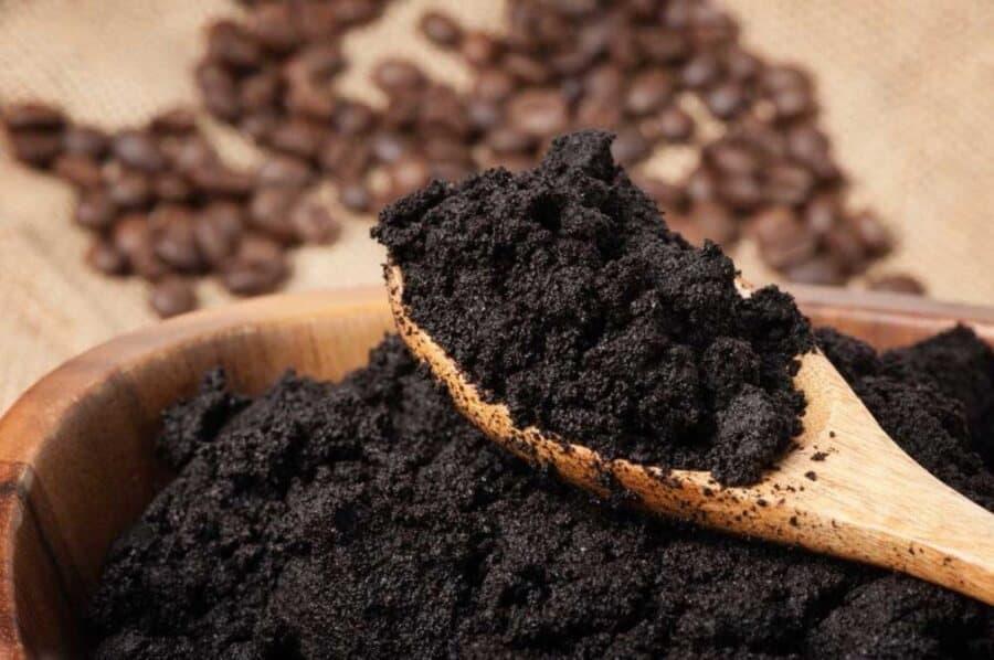 Nha đam kết hợp với bã cà phê trị sạch rạn rất nhanh