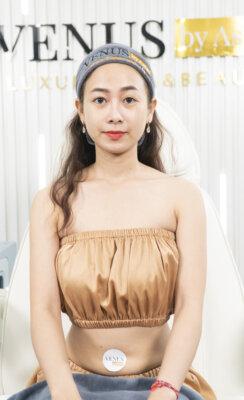 Chân dung người mẫu Lê Thu trẻ trung và xinh đẹp