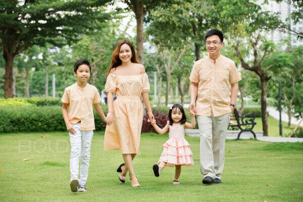 Chị Thanh hạnh phúc bên gia đình nhỏ luôn tràn ngập tiếng cười