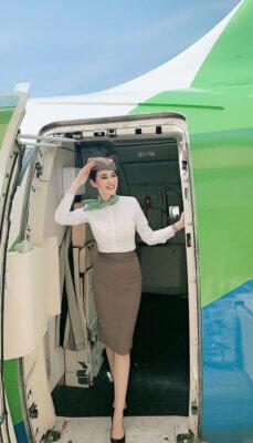 Nữ tiếp viên hàng không xinh đẹp Nhật Thu của Bamboo Airway