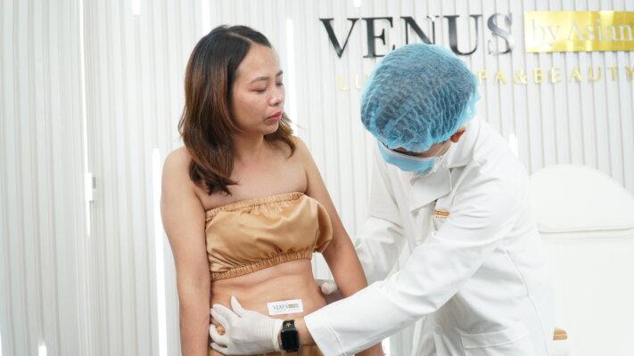Tiên Trần trong lần thăm khám Giảm béo đa tầng Max Burning ở Venus by Asian